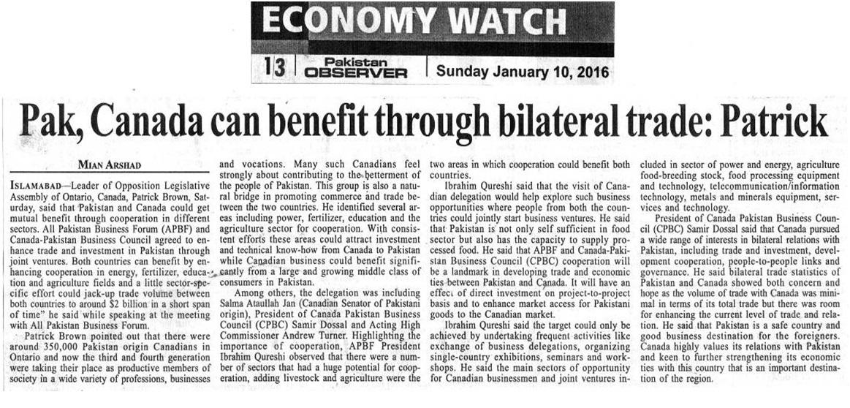 Pakistan Observer 10-01-2016