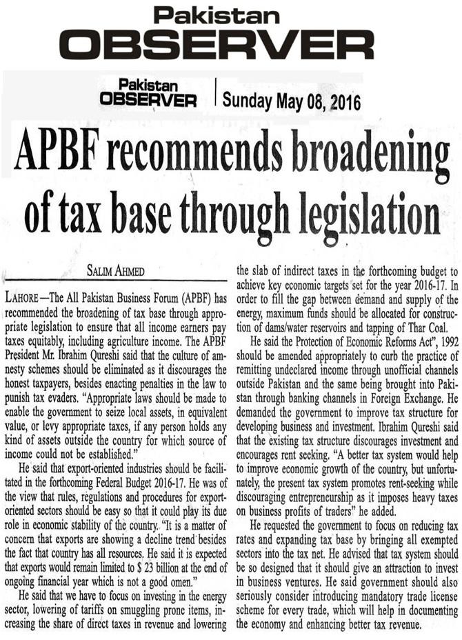 Pakistan Observer 08-05-2016