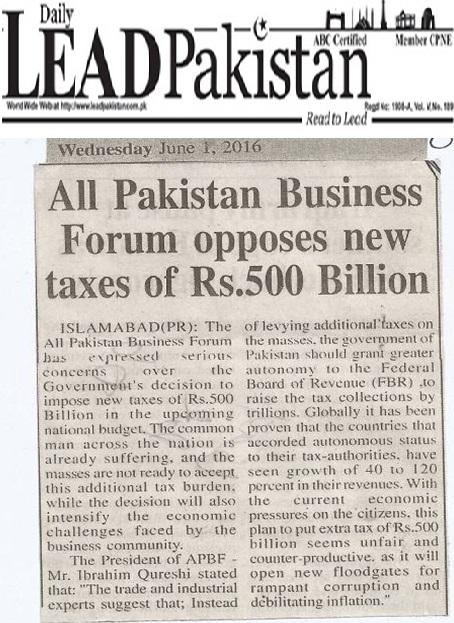 Daily Lead Pakistan 01-06-2016