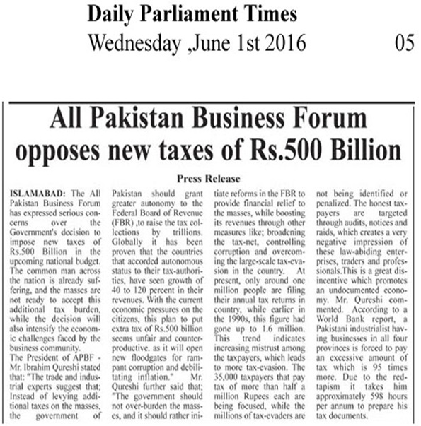 Daily Parliment Times 01-06-2016