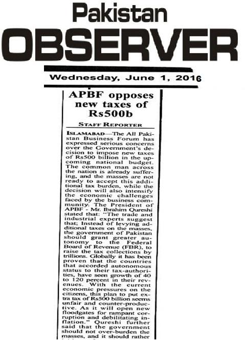 Pakistan Observer 01-06-2016