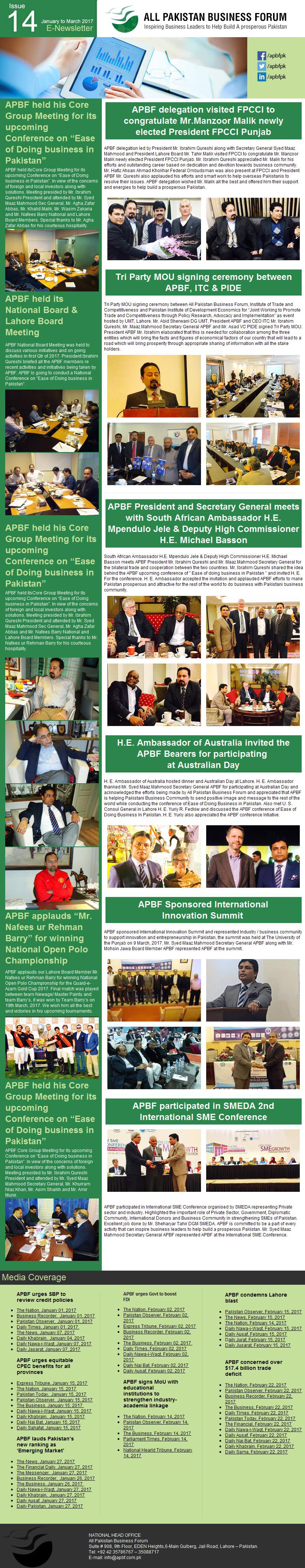 APBF E Newsletter 14