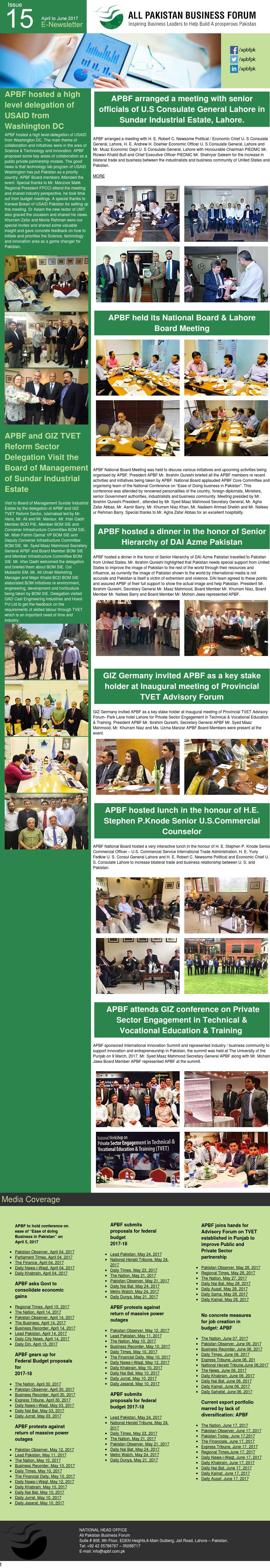 APBF E Newsletter 15