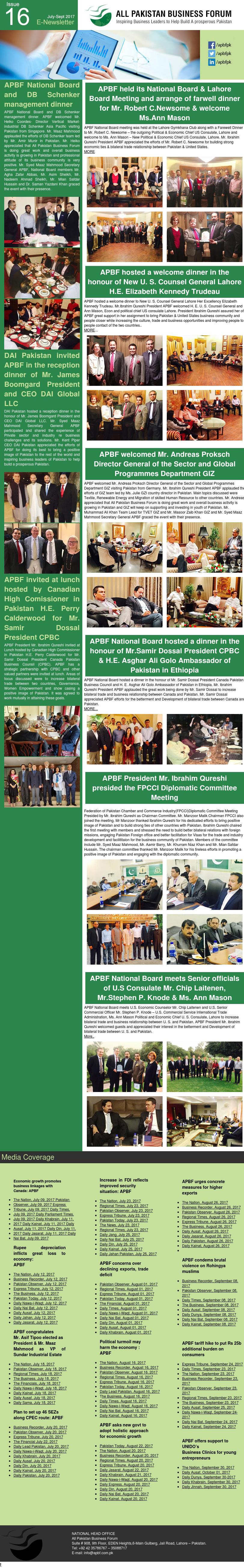 APBF E Newsletter 16